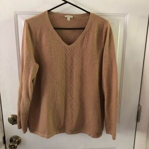 Talbots Camel Colored Sweater. XL